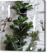 Festive Xmas Table Canvas Print