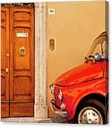 Fiat Parking Canvas Print