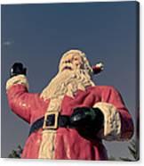 Fiberglass Santa Claus Canvas Print