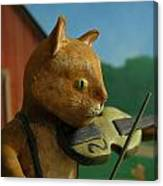 Fiddle Cat 2 Canvas Print