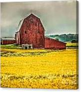 Field And Barn Canvas Print