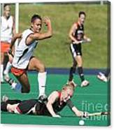 Field Hockey Hurdle Canvas Print