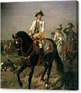 Field Marshal Baron Ernst Von Laudon 1717-90, General In The Seven Years War And War Of Bavarian Canvas Print