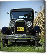 Field Of Dreams Vintage Ford Model A Tudor  Canvas Print