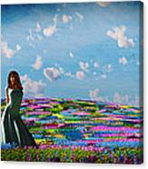 Field Of Flowers... Canvas Print