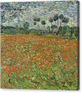 Field Of Poppies, Auvers-sur-oise, 1890 Canvas Print