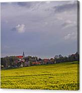 Fields Of Rapeseed In Bloom, Lower Canvas Print