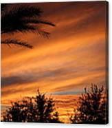 Fiery Arizona Sunset Canvas Print