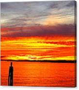 Fiery Fall Sunset Canvas Print