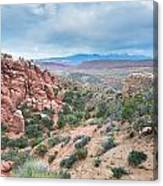 Fiery Furnace Viewpoint - La Sal Mountains - Arches National Park - Ut Canvas Print