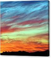 Fiery July Sunset Canvas Print