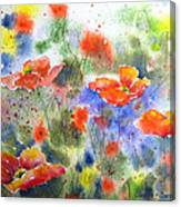 Fiery Poppies Canvas Print