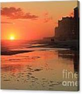 Fiery Seashore Canvas Print