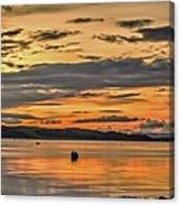 Fiery Skies Over Cumbrae Canvas Print