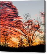 Fiery Sundown Canvas Print