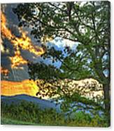 Fiery Sunset In The Blue Ridge I Canvas Print