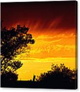 Fiery Sunset Canvas Print