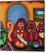 Fiesta Cats Or Gatos De Santa Fe Canvas Print