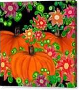 Fiesta Pumpkins Canvas Print