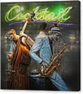 Fifties Cocktail Jazz Canvas Print