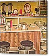 Fifty's Lunch Counter  Nostalgic Canvas Print