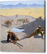 Fight For The Waterhole Canvas Print