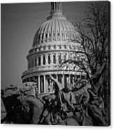 Fight In Washington Canvas Print