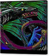 Fight The Dragon Canvas Print