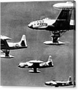 Fighter Jet Against Communists Canvas Print