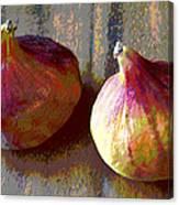 Figs Still Life Pop Art Canvas Print