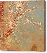 Figure Under A Blossoming Tree Canvas Print