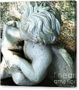 Figurine In The Forrest 3 Canvas Print