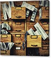 Filing System Canvas Print