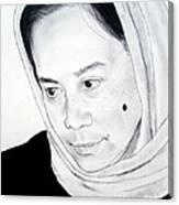 Filipina Beauty With A Facial Mole Canvas Print