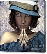 Fille Au Chapeau Canvas Print