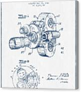 Film Camera Patent Drawing From 1938 - Blue Ink Canvas Print