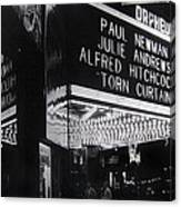 Film Homage Alfred Hitchcock Torn Curtain 1966 Orpheum Theater St. Paul Minnesota 1966 Canvas Print