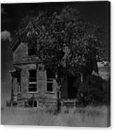 Film Homage Anthony Perkins Janet Leigh Alfred Hitchcock Psycho 1960 Vacant House Black Hills Sd '65 Canvas Print