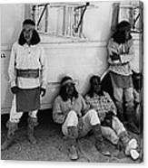 Film Homage Apache Extras The High Chaparral 1969 Old Tucson Arizona 1969-2008  Canvas Print