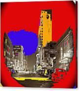 Film Homage Arthur Rothstein Theater Row  Majestic Melba  Palace Theaters Dallas Texas 1942-2008 Canvas Print