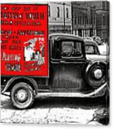 Film Homage Assassin Of Youth 1937 John Vachon Omaha Nebraska 1937-2010  Dwain Espair Canvas Print