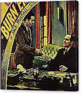 Film Homage Burn 'em Up Barns Mascot Serial 1934 Chapter 5 Lobby Card Color Added 2008 Canvas Print