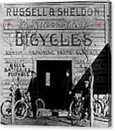 Film Homage Butch Cassidy 1969 Russell And Sheldon Bicycles C.1895 Tucson Arizona 2008 Canvas Print