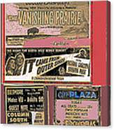 Film Homage Collage Drive-in Ads 1953 Tucson Arizona 2008 Canvas Print