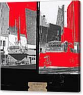 Film Homage Collage Fox Tucson Closed Last Bill  Original Ticket Stub 1984-1974-2012                 Canvas Print