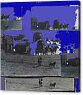 Film Homage Dirty Dingus Magee Collage Number 1 1970-2012 Mescal Arizona Canvas Print