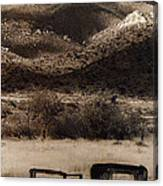 Film Homage End Of The Road 1970 Bisected Car Ghost Town Dos Cabezos Arizona 1967-2008 Canvas Print