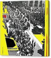 Film Homage Fox Tucson Theater Marquee Cole Bros. Circus Elephant Parade 1936-2008 Canvas Print