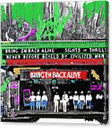 Film Homage Frank Buck Bring 'em Back Alive 1932 Collage Fox Tucson  Arizona 1932-2011 Canvas Print