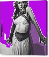 Film Homage Jean Rogers Dale Arden Flash Gordon Serial 1936 Publicity Photo Color Added 2008 Canvas Print